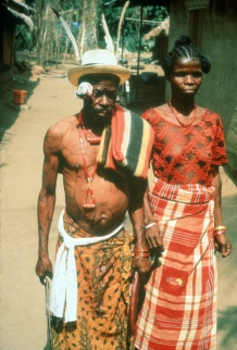 An Ozo titled man with his wife on the day of his installation,