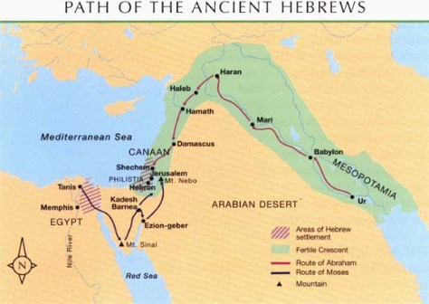 path of the ancient hebrews