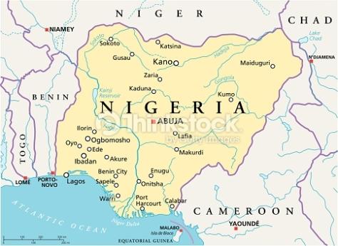 nigeria-political-map-vector-id498125517