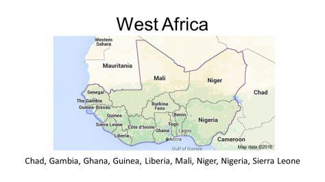 West+Africa+Chad,+Gambia,+Ghana,+Guinea,+Liberia,+Mali,+Niger,+Nigeria,+Sierra+Leone