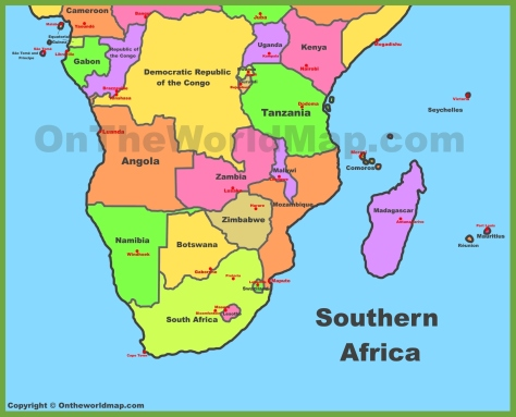 map-of-southern-africa