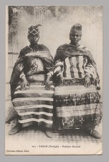 A. Albaret-Dakar Dakar (Sénégal) - Femmes Ouolofs, 1910s (postmarked October 16, 1916) Photomechanical print; 5 1/4 × 3 1/4 in. (13.3 × 8.3 cm) The Metropolitan Museum of Art, New York, Visual Resource Archive, Department of the Arts of Africa, Oceania, and the Americas (VRA.2014.8.024) http://www.metmuseum.org/Collections/search-the-collections/650363
