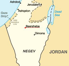 Beersheba_Israel_Map