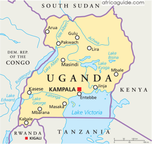 uganda_political_map