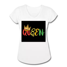 rasta-queen-collection-womens-tri-blend-v-neck-t-shirt